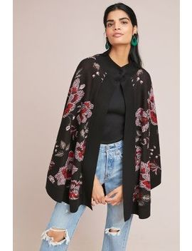 Monica Floral Poncho by Laia