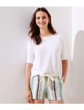 Striped Drawstring Shorts by Loft