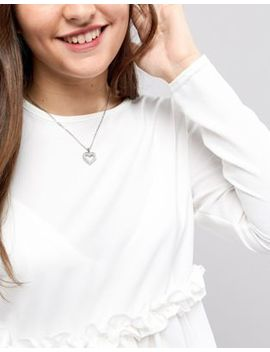 Ted Baker Silver Heart Charm Necklace by Ted Baker