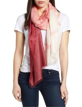 Eyelash Trim Print Cashmere & Silk Wrap by Nordstrom