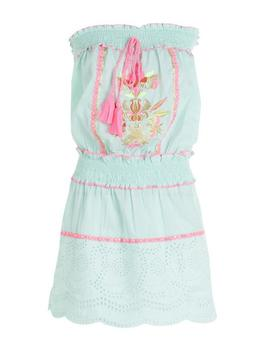 Embroidered Smocked Beach Dress by Boohoo