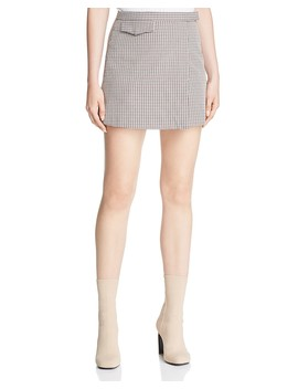 Plaid Mini Skirt by Theory