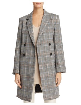 Plaid Double Breasted Jacket by Theory