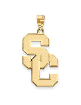 Solid 14k Yellow Gold University Of Southern California Xl Pendant (17mm X 35mm) by Sonia Jewels
