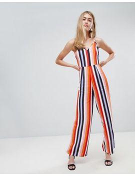 Miss Selfridge Jumpsuit In Rainbow Stripe by Miss Selfridge