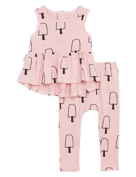 Ice Cream Frilly Tank & Leggings Set by Tiny Tribe