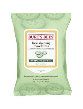 Burt's Bees Facial Cleansing Towelettes For Normal To Dry Skin, Cucumber And Sage, 30 Count by Burt's Bees