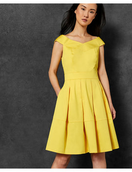Cotton Off The Shoulder Dress by Ted Baker
