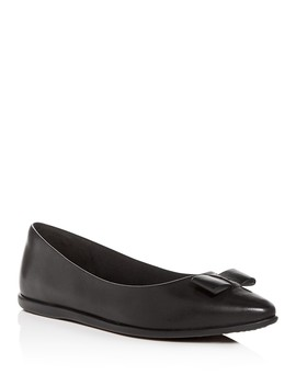 Women's 3.Zero Grand Leather Pointed Toe Ballet Flats by Cole Haan