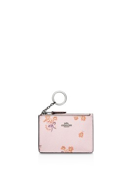 Floral Print Mini Skinny Card Case by Coach
