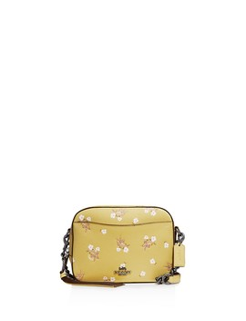 Floral Bow Print Crossgrain Leather Crossbody Bag by Coach