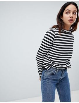 Weekday Long Sleeved Stripe Top by Weekday