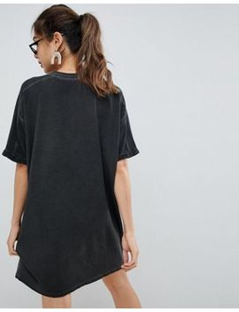 Asos Design T Shirt Dress With Rolled Sleeves And Wash by Asos Design