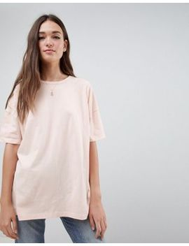 Asos Design Super Oversized T Shirt With Drop Shoulder In Pink by Asos Design