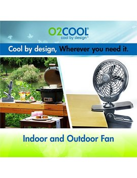 O2 Cool 5 Inch Battery Operated Clip Fan by O2 Cool