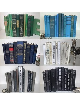 Vintage Decorative Books | Used Thrift Designer Books | Bulk Wholesale Cheap | Antique Home Decor | Choose Your Colors | Create Your Own Set | Fill A Bookshelf, Stack, Office, Home, Shelfie, Library by Amazon