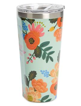 X Rifle Paper Co. Lively Floral Insulated 16 Ounce Stainless Steel Tumbler by Corkcicle