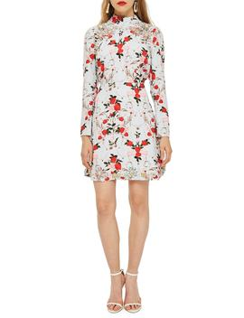 Rose Ornate Print Dress by Topshop