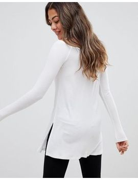 Asos Off Shoulder Top In Longline Slouchy Rib by Asos Collection