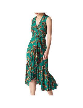 Whistles Capri Print Wrap Dress, Green/Multi by Whistles