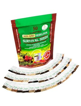 Heirloom Vegetable Seeds Non Gmo Survival Seed Kit   Part Of Our Legacy And Heritage   50 Varieties 100 Percents Naturally Grown  Best For Gardeners Who Raise Their Own Healthy Food by Grow For It