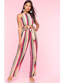 Bridget Stripe 2 Piece Pant Set by A'gaci