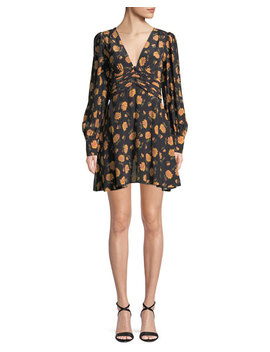 Marion Long Sleeve Floral Mini Dress by Veronica Beard