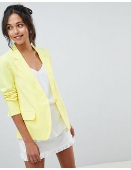 Oasis Tailored Suit Jacket In Yellow by Oasis