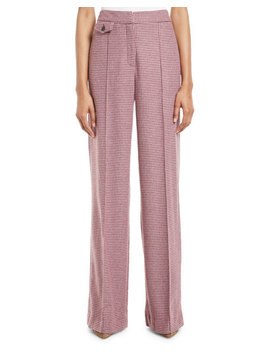 Jewell High Rise Houndstooth Pants by Veronica Beard