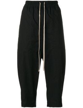 Rick Owens Drkshd Wdrawstring Cropped Trousershome Women Clothing Cropped Trousers by Rick Owens Drkshdw