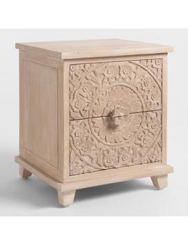 Natural Carved Zaria Nightstand by World Market