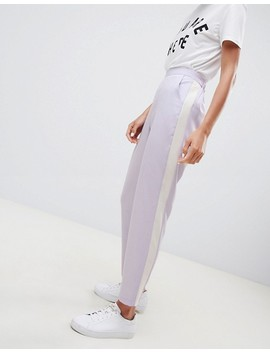 Asos Design Tailored Tapered Trousers With Contrast Side by Asos Design