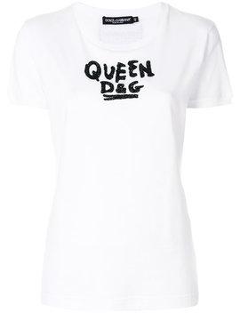 Dolce & Gabbanabeaded Slogan T Shirthome Women Clothing T Shirts & Jerseys by Dolce & Gabbana