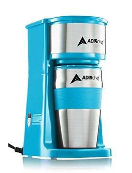 Adir Chef Grab N' Go Personal Coffee Maker With 15 Oz. Travel Mug (Crystal Blue) by Adir Chef