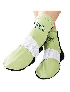 Natra Cure Cold Therapy Socks (W/Compression Strap)   Extra Arch And Plantar Fasciitis Relief   (For Feet, Heels, Pain, Swelling)   (Size: Large) by Natra Cure