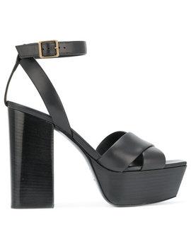 Saint Laurent Farrah 80 Criss Cross Sandals by Saint Laurent