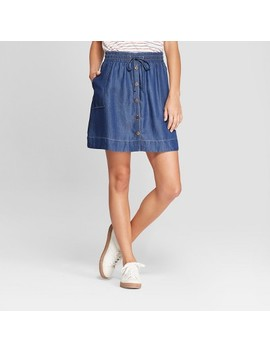 Women's Button Front Denim Skirt   Universal Thread™ Dark Wash by Universal Thread™