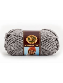 Lion Brand Yarn Hometown Usa Dallas Grey 135 149 Classic Bulky Yarn by Lion Brand