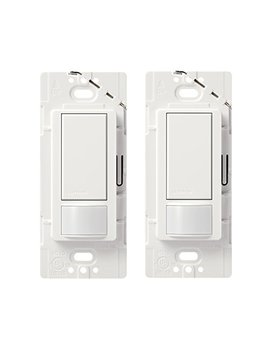 Lutron Maestro Sensor Switch (2 Pack), 2 A, No Neutral Required, Single Pole, Ms Ops2 Wh, White by Lutron