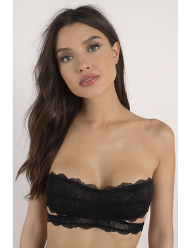 Need You Black Lace Bandeau by Tobi