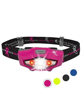 Headlamp With Led Headlight Technology   6 Head Lamp Modes, 1 Aa Battery, Lightweight, Water Resistant | For Camping, Running, Hiking, Car, Backpack And Emergency Kit | Perfect For Home, Too by Smarter Life Products