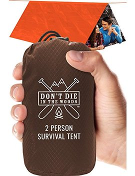 Don't Die In The Woods World's Toughest Ultralight Survival Tent • 2 Person Mylar Emergency Shelter Tube Tent + Paracord • Year Round All Weather Protection For Hiking, Camping, Outdoor Survival Kits by Don't Die In The Woods