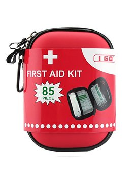 I Go Compact First Aid Kit   Hard Shell Case For Hiking, Camping, Travel, Car   85 Pieces by I Go