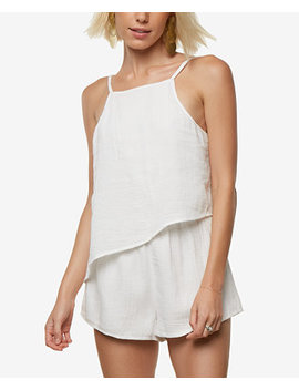 Juniors' Vinnie Textured Asymmetrical Romper by O'neill