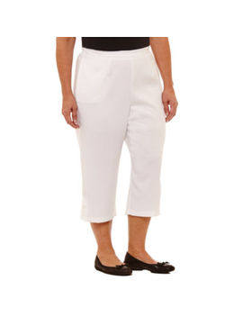 Alfred Dunner® Out And About Capri   Plus by Alfred Dunner
