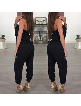 2018 Sexy Women Off Shoulder Long Jumpsuits Strapless Club Party Casual Rompers Jumpsuit Maxi Overalls by Thefound