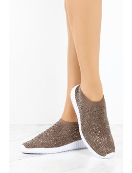Attention Sneaker   Taupe by Lola Shoetique