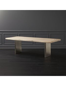 Landscape White Washed  Wood Dining Table by Crate&Barrel
