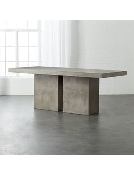 Fuze Large Grey Table by Crate&Barrel