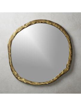 "Abel Round Mirror 34"" by Crate&Barrel"